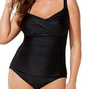 Swimsuits for All Women's Plus Size Twist Front